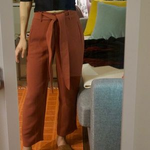 Aritzia Jallade high-waist belted pants (0)